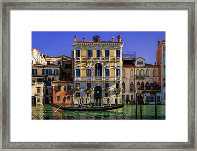 Cruising Down The Canal Framed Print