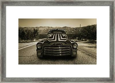 Cruising In The Southwest Framed Print by Joseph Sassone