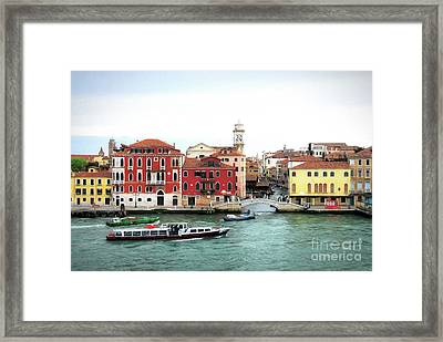 Framed Print featuring the photograph Cruising Into Venice by Mel Steinhauer