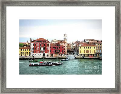 Cruising Into Venice Framed Print by Mel Steinhauer