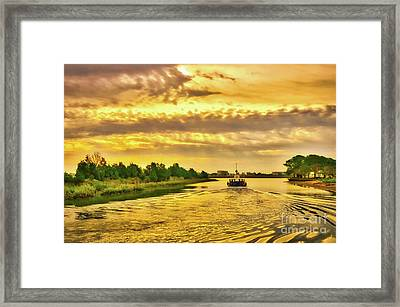 Framed Print featuring the photograph Cruising Out Of Murrells Inlet by Mel Steinhauer