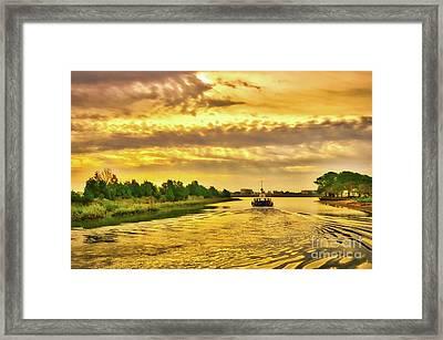Cruising Out Of Murrells Inlet Framed Print by Mel Steinhauer