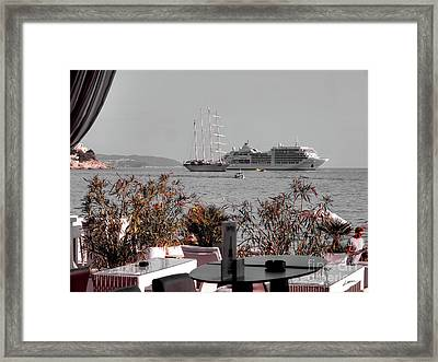 Cruising Past And Present Framed Print