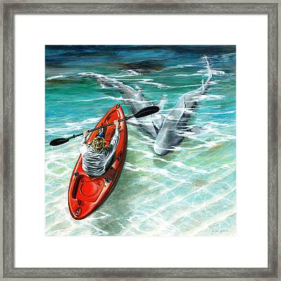 Cruising The Channel Framed Print