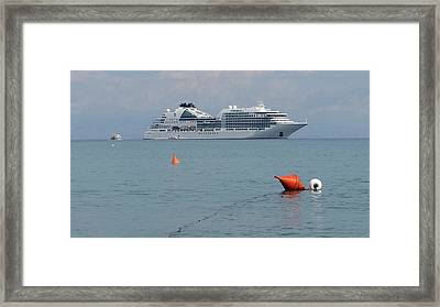 Cruising The Med Framed Print