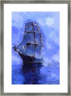 Cruising The Open Seas Framed Print