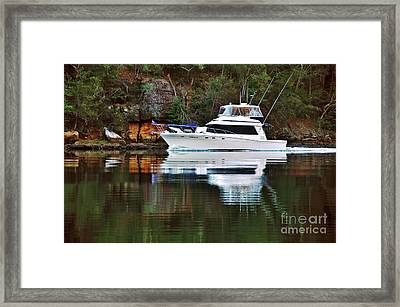 Framed Print featuring the photograph Cruising The River By Kaye Menner by Kaye Menner