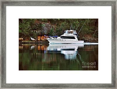 Cruising The River By Kaye Menner Framed Print