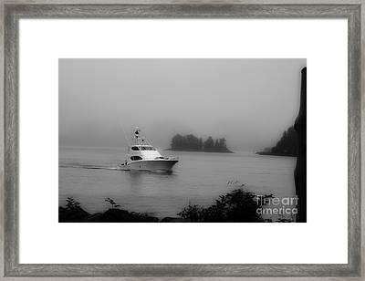 Cruising To Shore Framed Print