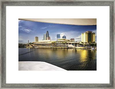 Cruising To Tampa In Hdr Framed Print by Michael White