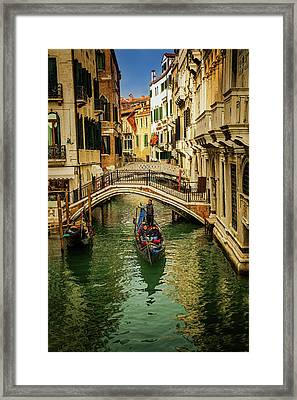 Cruising Venice Framed Print