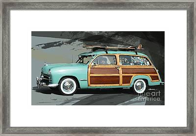 Cruising Woody Framed Print by Uli Gonzalez