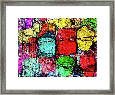 Crumbling Stone Wall Framed Print by Don Gradner