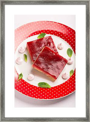 Crumbly Cake With Jam Jelly Prepared From Cranberry Framed Print by Vadim Goodwill