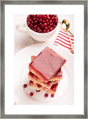Crumbly Cake With Jelly Prepared From Cranberry Framed Print by Vadim Goodwill