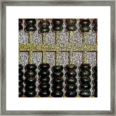 Framed Print featuring the photograph Crunching Numbers On An Ancient Chinese Abacus 20161115 Square by Wingsdomain Art and Photography