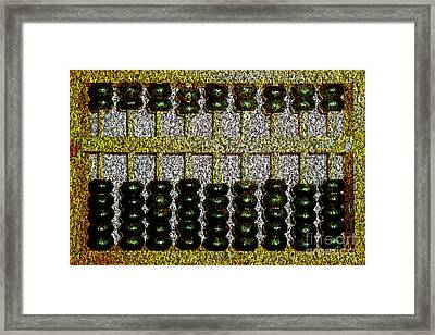 Framed Print featuring the photograph Crunching Numbers On An Ancient Chinese Abacus 20161115 by Wingsdomain Art and Photography