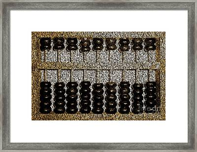 Framed Print featuring the photograph Crunching Numbers On An Ancient Chinese Abacus 20161115sepia by Wingsdomain Art and Photography