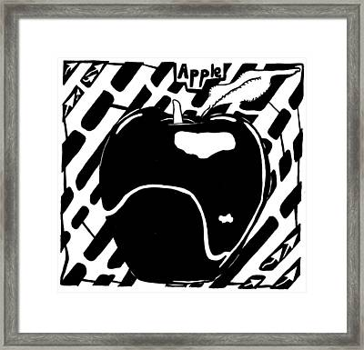 Cruncy And Delicious Maze Of Apple Framed Print by Yonatan Frimer Maze Artist