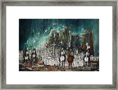 Marching Out Framed Print