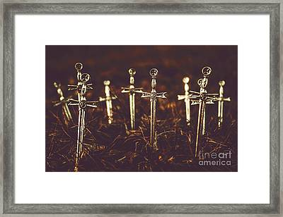 Crusaders Cemetery Framed Print