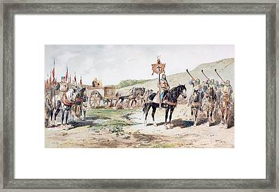 Crusaders On The March In The 11th Framed Print