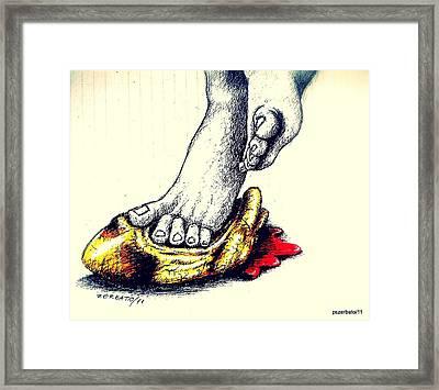 Crush My Aspirations Framed Print by Paulo Zerbato