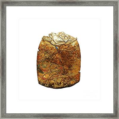 Crushed Beer Cans. Framed Print by Bernard Jaubert