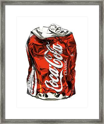 Crushed Framed Print by Michael Kraus