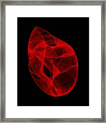 Crushing Folds II Framed Print