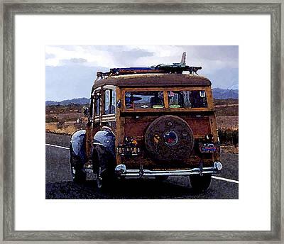 Crusin Through The Desert Framed Print by Ron Regalado