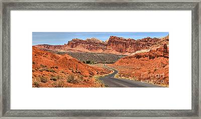 Crusing Through The Waterpocket Fold Framed Print by Adam Jewell