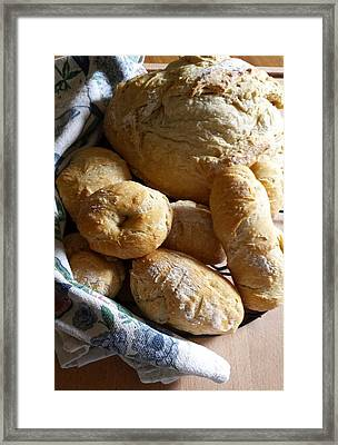 Framed Print featuring the photograph Crusty Artisan Breads by Deb Martin-Webster