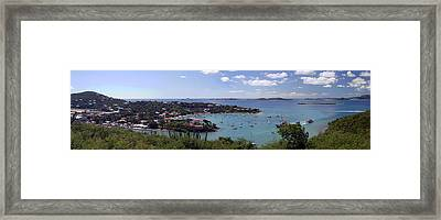 Cruz Bay Framed Print by Gary Lobdell