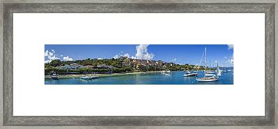 Cruz Bay, St. John Framed Print by Adam Romanowicz
