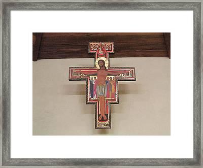 Cruz De San Damian Framed Print