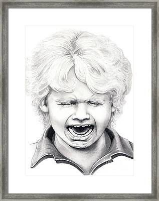 Cry Baby Framed Print by Murphy Elliott