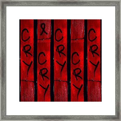 Cry With A Ribbon Framed Print by Taylor Steffen SCOTT