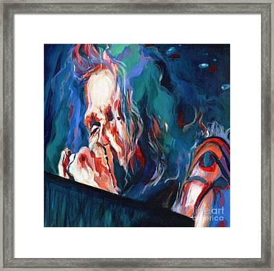 Love Is Sweet Misery. Steven Tyler  Framed Print