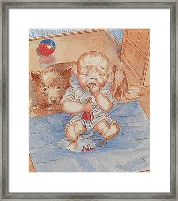 Crying Baby Framed Print by Petrov