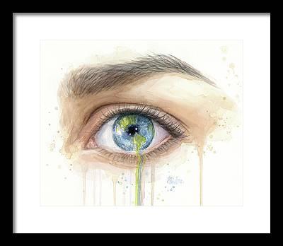 Sad Eyes Framed Prints