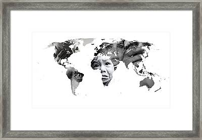 Crying Earth Framed Print