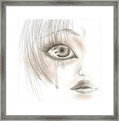 Crying Eye Framed Print by Darryl Redfern