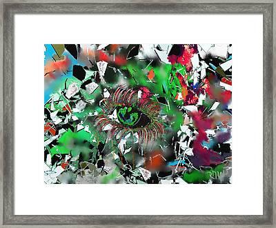Crying Eye Framed Print by Ricardo Mester