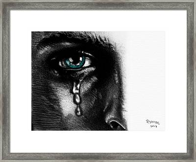 Crying Face Framed Print