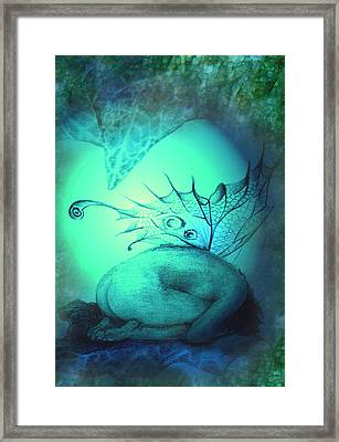 Crying Fairy Framed Print by Ragen Mendenhall