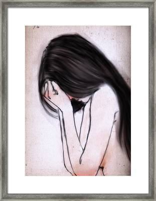 Sorrow Framed Print by H James Hoff