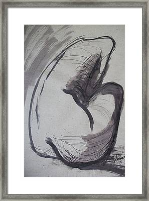 Crying Heart - Nudes Gallery Framed Print by Carmen Tyrrell