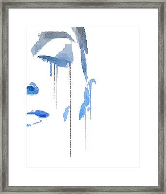 Crying In Pain Framed Print