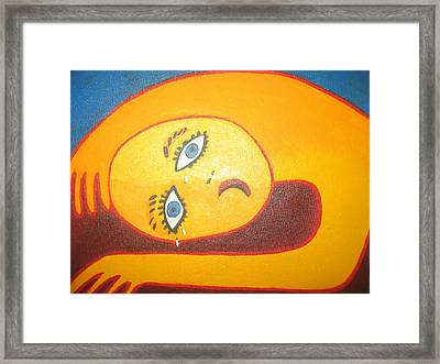 Crying  Over You Framed Print by Sandra McHugh